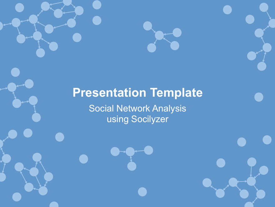 social network analysis presentation - socilyzer, Presentation templates